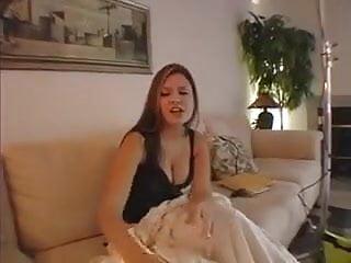 Elizabeth Douglas having a cigarette at my neighbor house