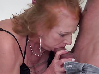 .Hot family sex with granny and MILF.