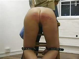 Spanking Blonde Big Ass video: Prison birching