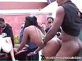 Velvet Swingers Club Black street carnival orgy