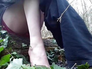 British Bisexuals Outdoor video: He Is Getting Half Naked in the Mud