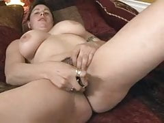 My Horny Chubby GF masturbating her wet creamy bush