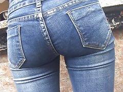 jeans apertado sincero ass