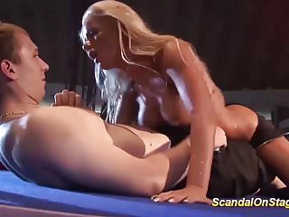 wild lapdance with busty milf