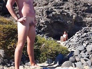 Amateur Voyeur video: Flashing my dick girl