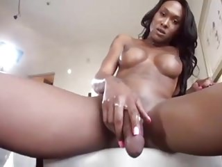 Black And Ebony Shemale Solo Shemale video: Black Shemale Cum Shot Compilation