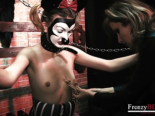 Hardcore Tits Bdsm video: FrenzyBDSM Lesbian Power Fantasies got Fulfilled