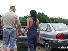 18yr Old Boy Seduce Ugly not mother to Fuck Outdoor