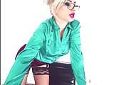 Satin green  blouse
