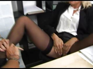 Matures Hairy Oldyoung video: Beautiful slut fucked at her office
