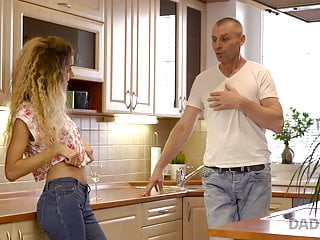 Blonde Blowjob European video: DADDY4K. Chick manages to fuck BF mature father when he is
