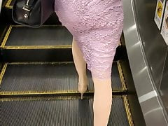 Elegant Japanese lady in metro
