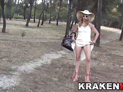 Voyeur Public Nudity Outdoor mit einer heißen MILF