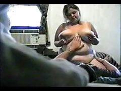 Horny Fat BBW Ex GF with Big Tits riding cock on Hidden Cam