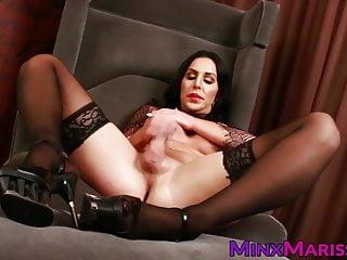 Masturbation Shemale Big Tits Shemale Hd Videos video: Semen demon Marissa Minx stroking big dick solo