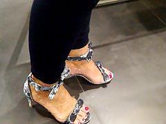 Die schönen Füße einer deutschen Stute