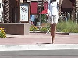 At the mall Lara upskirt