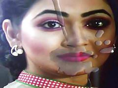 BD actress Badhon sexy face cumshot