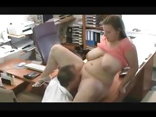 Huge tits get office...