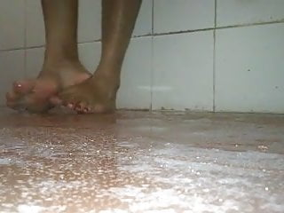 Feet having bath...