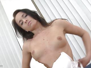 Sweet Lovely Milf Feeding Her Small Pussy