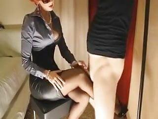 Mature redhead gives her slave slut...