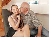 DADDY4K. Old gentleman easily seduces beautiful redhead to..