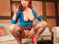 redhead in blue caediganfree full porn
