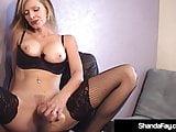 Cougar Shanda Fay Spits On Pussy & Dildo Fucks Both Holes!