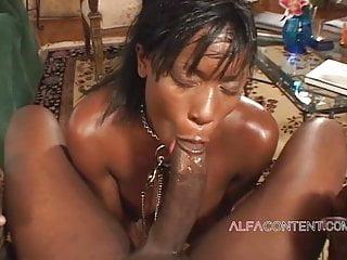 In BBC Destroyed Latex By Ebony Curvy
