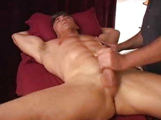 Mature man Naked and milked by gay masseur