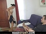 He punish young brunette wife