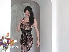 nimfa mannay strips off her black stocking to playfree full porn