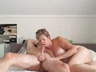 Mature couple fucking, with creampie