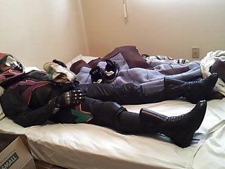 Girly leather bike gear smelly sock in helmet...
