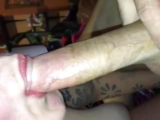 My amateur wife playing cock deepthroat sloppy...