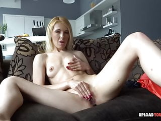 pets her  pussy   with Blonde her girlfriend fingers