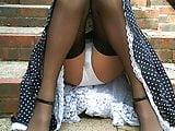Retro 1950's Dress And Stockings