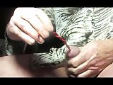 urethral sounding transvestite ladyboy dildo pantyhose nylon