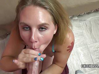Busty spouse Dani Arcadia is giving a POV blowjob