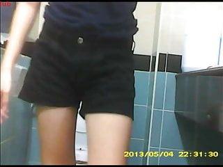 SG Toilet Voyeur 9 – Dark Blue T-Shirt + Black Shorts