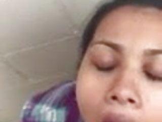 IndianJoy #1 – Desi legal teen slurps colossal cumshot from white shaft