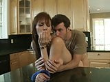 Hot hunk James Deen gets his tool sucked by a redhead