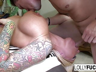 Horny Lolly sucks his cock and swallows his cum