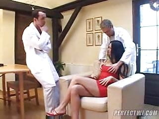 2 doctors with a stupid mature woman