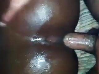 Ebony booty takes anal...