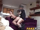 Olga makes cop feels at home inviting his cock into her ass