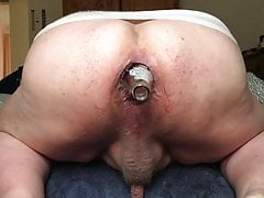 Anal gape with bottle