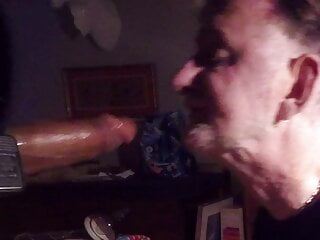 Grandpa Gums Hard Young Black Dick and Gets Face Fucked
