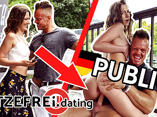 HITZEFREI.courting PUBLIC Riverside-Banged with TEEN Alessandra